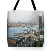 Brooklyn Bridge Circa 1904 Tote Bag