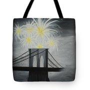 Brooklyn Bridge Fireworks Tote Bag