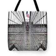Brooklyn Bridge Flag Tote Bag