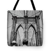Brooklyn Bridge In Black And White Tote Bag