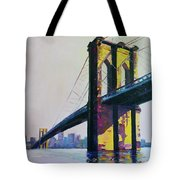 Brooklyn Bridge, N Y  Tote Bag