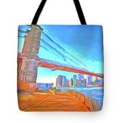 Brooklyn Bridge New York Pop Art Tote Bag