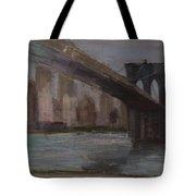Brooklyn Bridge Painting Tote Bag