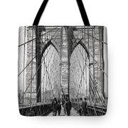 Brooklyn Bridge Promenade 1898 - New York Tote Bag