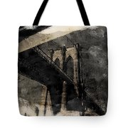 Brooklyn Bridge Reflection Abstract Tote Bag