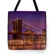 Brooklyn Bridge Sunset - Panorama Tote Bag