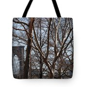 Brooklyn Bridge Thru The Trees Tote Bag