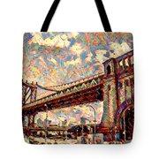 Brooklyn Bridge Watercolor Tote Bag