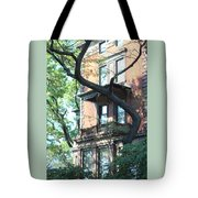 Brooklyn Building And Tree Tote Bag
