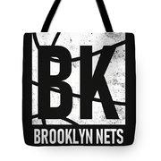 Brooklyn Nets City Poster Art Tote Bag