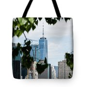 Brooklyn View Of One World Trade Center  Tote Bag