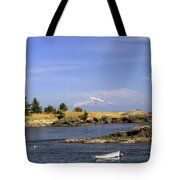 Brooks Point With Mt. Baker Tote Bag