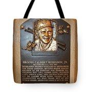 Brooks Robinson Hall Of Fame Plaque Tote Bag