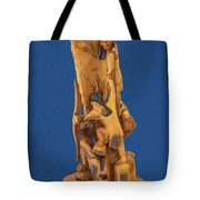 Brother 2, Carved Out Of A Dead Tree By Scott Alan Malinsky In Twin Lakes, Colorado  Tote Bag