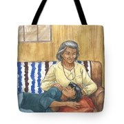 Brother Wolf - Grandmother's Lap Tote Bag
