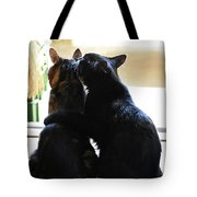 Brotherly Cat Love Tote Bag