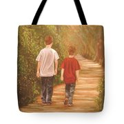 Brothers Into The Woods Tote Bag