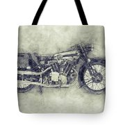 Brough Superior Ss100 - 1924 - Motorcycle Poster 1 - Automotive Art Tote Bag