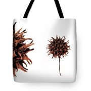 Brown Abstract Tote Bag