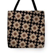Brown And Black Mandala Pattren Tote Bag