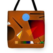 Brown And Red Tote Bag