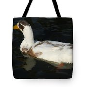 Brown And White Duck Tote Bag