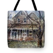 Brown Batik House Tote Bag