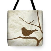 Brown Bird Silhouette Modern Bird Art Tote Bag