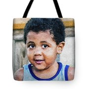 Brown Child - Paint Fx Tote Bag