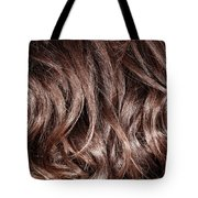 Brown Curly Hair Background Tote Bag