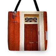 Brown Door Tote Bag
