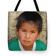 Brown Eyed Bolivian Boy Tote Bag
