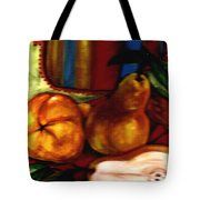 Brown Golden Pears Tote Bag