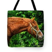 Brown Horse In High Definition Tote Bag