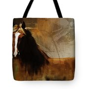 Brown Horse Pose Tote Bag