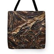 Brown Lace Tote Bag