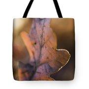 Brown Leaf Tote Bag