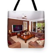 Brown Living Room Tote Bag