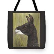 Brown Llama Profile Cathy Peek Farm Animal Art Tote Bag