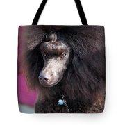 Brown Medium Poodle Tote Bag