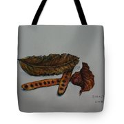 Brown Of Leafs And Seeds Tote Bag