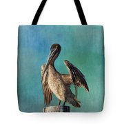 Brown Pelican - Fort Myers Beach Tote Bag