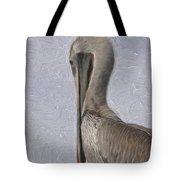 Brown Pelican In Paint Tote Bag
