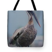 Brown Pelican On The Dais Tote Bag