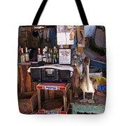 Brown Pelican Visiting Mexican Beach Bar Tote Bag