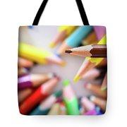 Brown Pencil Tote Bag
