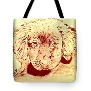 Brown Puppy Tote Bag