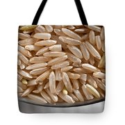 Brown Rice In Bowl Tote Bag by Steve Gadomski