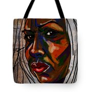 Brown Woman On Stone Tote Bag