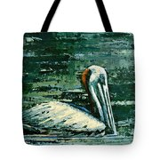 Brownie Swimming In Green Water Tote Bag